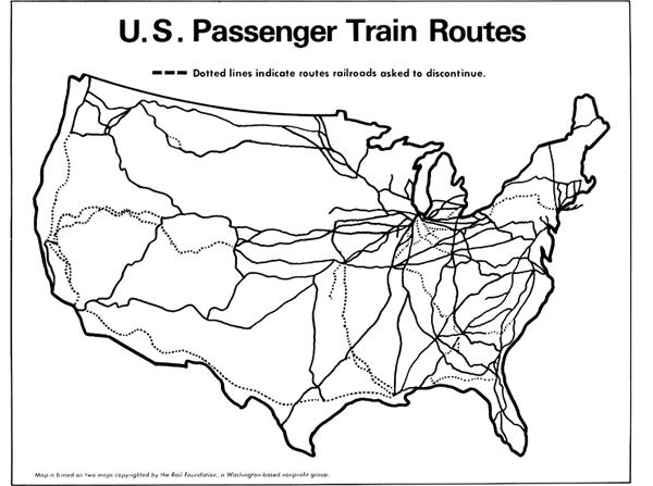Us Train Routes Map Globalinterco - Us passenger train map