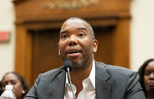 At a House Judiciary subcommittee hearing on June 19, journalist Ta-Nehisi Coates (Getty Images/NurPhoto/Cheriss May)